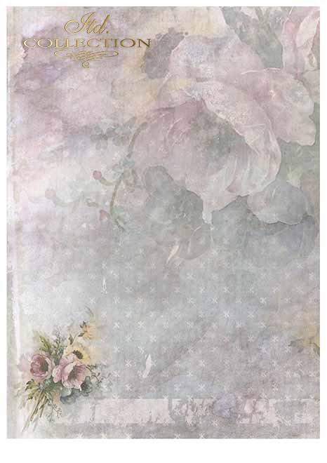 Papiery do scrapbookingu w zestawach - Romantyczny ogród * Scrapbooking Papiere in Sätzen - Romantischer Garten