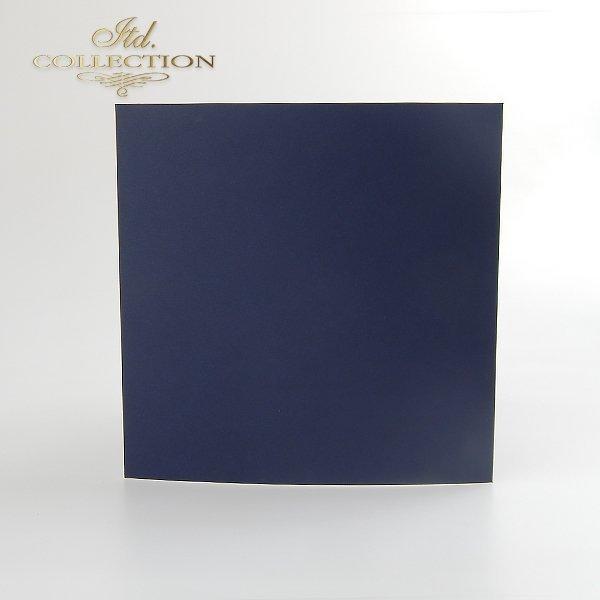 Baza do kartki BDK-014 132x132 mm * Granatowa