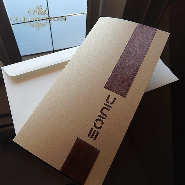 Zaproszenie biznesowe ZB1048 z kopertą
