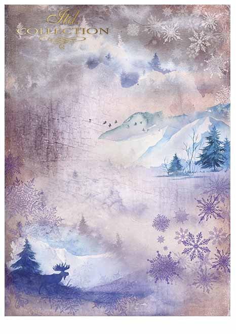 Papeles para scrapbooking en sets - animales de invierno.*Бумаги для скрапбукинга в наборах - зимние животные