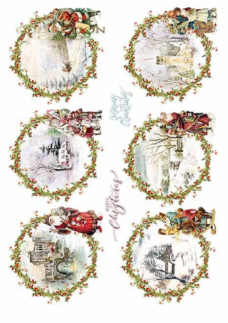 Papiery do scrapbookingu w zestawach - Wesołych Świąt*Papers for scrapbooking in sets - Merry Christmas