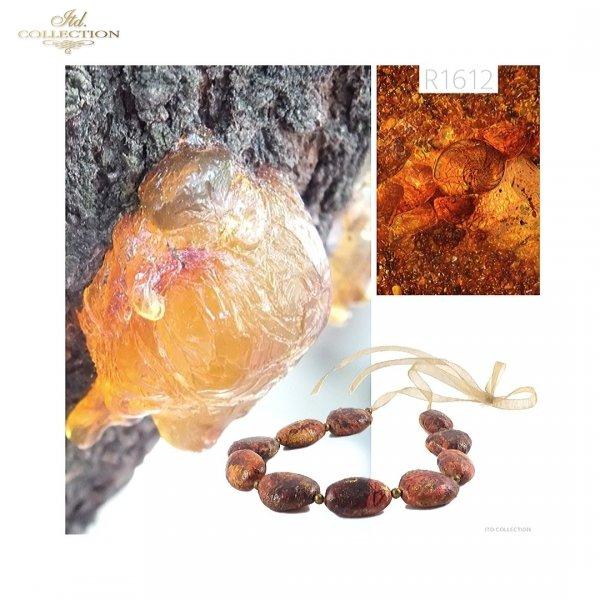 Zanurzone w bursztynie * Mini set - Submerged in amber - example 1
