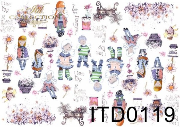 Papier decoupage ITD D0119