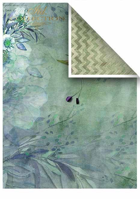 Papiery do scrapbookingu w zestawach - Wieczorna łąka * Papers for scrapbooking in sets - Evening meadow
