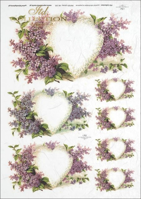 flower, flowers, lilac, Valentine's Day, decorations with lilac, heart, lovers, love, R295