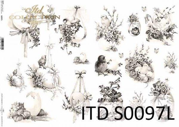 Papier decoupage SOFT ITD S0097L