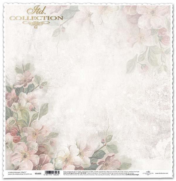 flores de papel para álbum de recortes de manzana*бумага для скрапбукинга яблоневого цвета*Papier für das Scrapbooking Apfelblüten