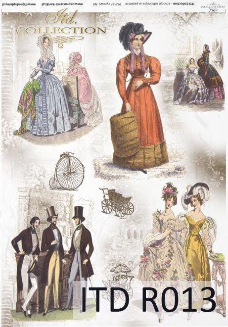 papier ryżowy decoupage - Vintage, moda damska i męska*papel de arroz decoupage - manera de la vendimia para los hombres y las mujeres