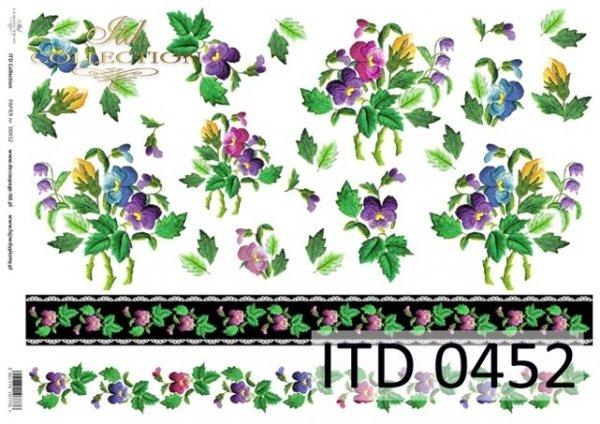 Papier decoupage ITD D0452M