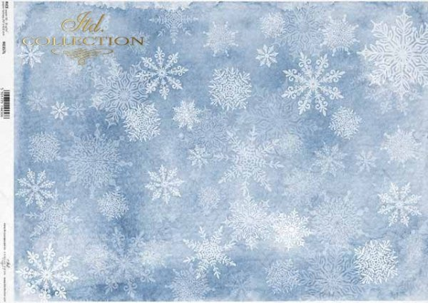 copos de nieve blanca sobre un fondo azul*weiße Schneeflocken auf blauem Grund*белые снежинки на синем фоне