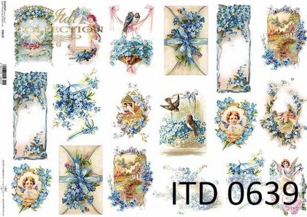 Papier decoupage ITD D0639