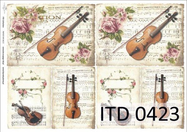 Papier decoupage ITD D0423