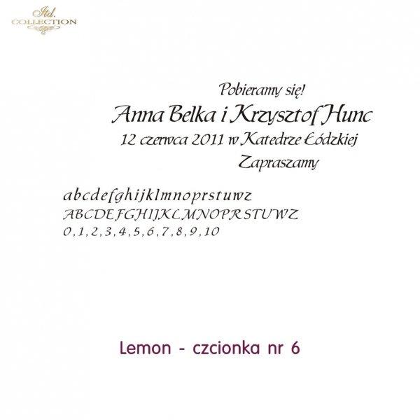 Czcionka na zaproszenie 06