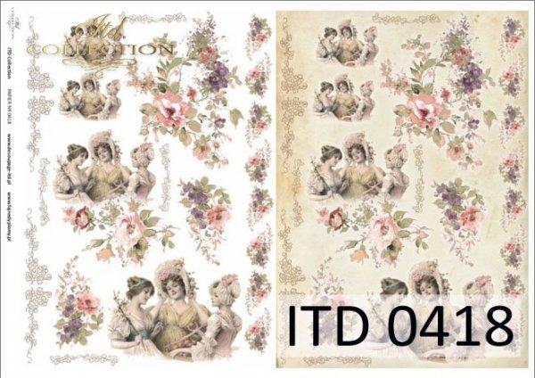 Papier decoupage ITD D0418
