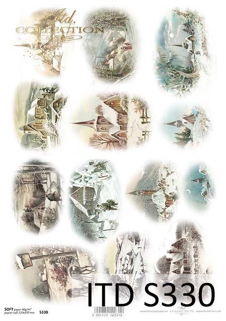 Papier decoupage świąteczny, zima*The paper decoupage festive, winter