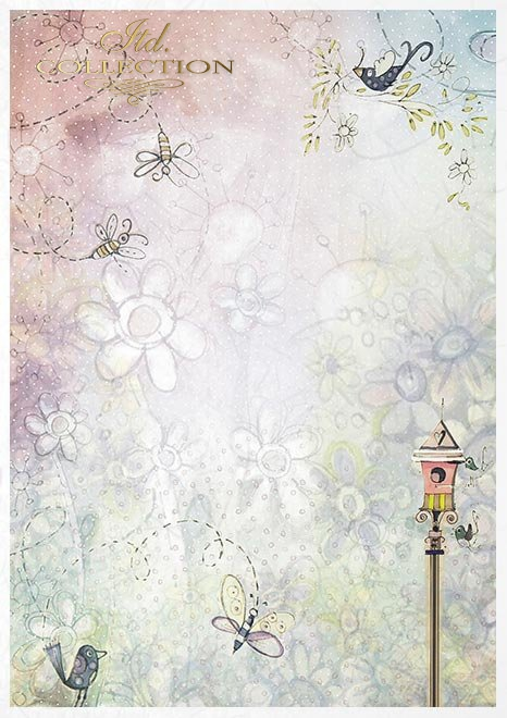 Kreativset auf Reispapier - Engel Mädchen und Jungen*Set creativo sobre papel de arroz - Angel girls and boys*Креативный набор на рисовой бумаге - ангелочек для девочек и мальчиков