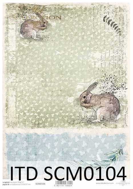 Papier scrapbooking Wielkanoc*Easter scrapbooking paper