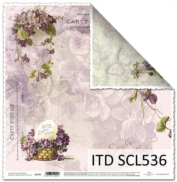 Papier scrapbooking SCL536