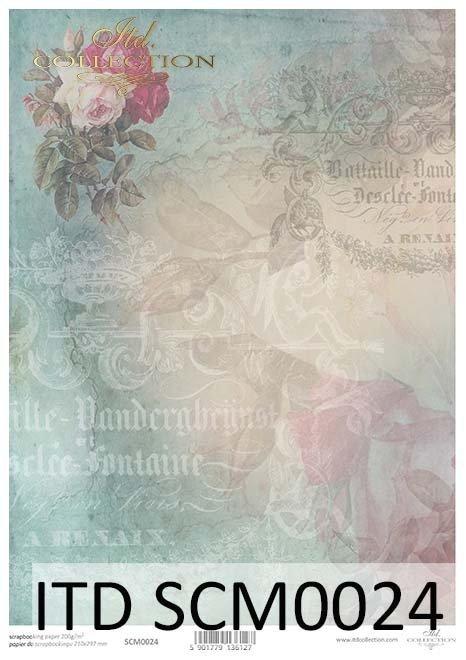 Papier scrapbooking Vintage*Vintage scrapbooking paper