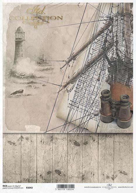 Papel de arroz-faro en la niebla*Rýžový papír-maják v mlze*Reispapier -Leuchtturm im Nebel
