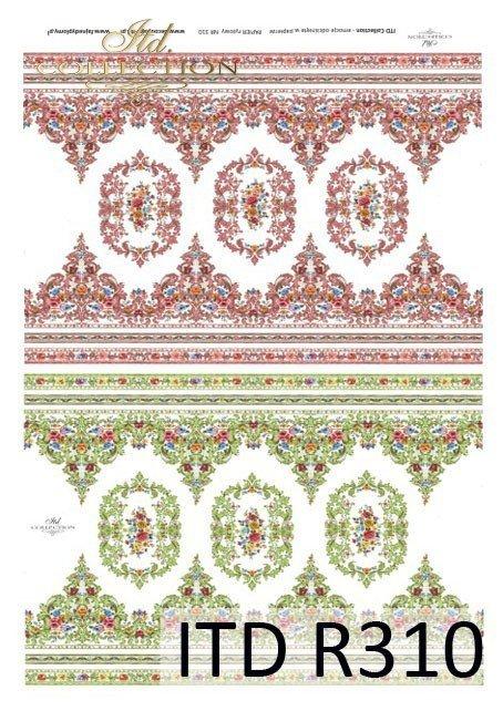 ornamenty, szlaczki, dekory kwiatowe, drobne kwiatki, ozdobniki