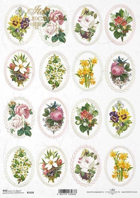 decoraciones decoupage de papel de arroz, marco*Reispapier Decoupage Dekore, Rahmen*декоративные декоры для рисованной бумаги, рама