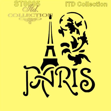 Szablon ST0005 - Paryż, Wieża Eiffla