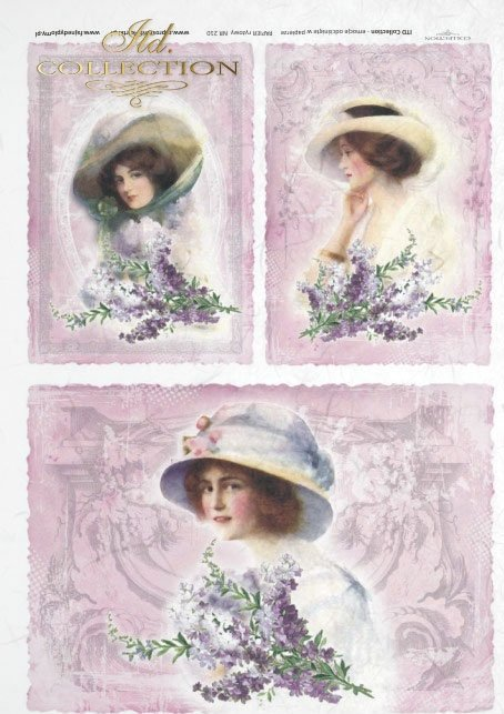 retro and vintage, portraits of ladies on a background, pastel colors