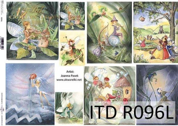 Papier decoupage malarstwo współczesne, postacie z bajek*Paper decoupage contemporary painting, fairy figures