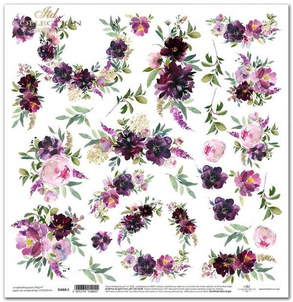 Seria Ogród marzeń - kwiaty do wycinania, bukiety