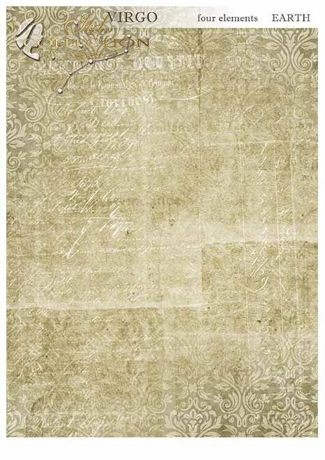 Papiery do scrapbookingu w zestawach - cztery żywioły-Ziemia*Papers for scrapbooking in sets - four elements - Earth
