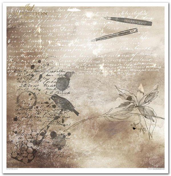 Seria Secrets Old Journal, sepia, stare papiery, napisy, pismo, tusz, vintage, stalówki, maszyna do pisania, inicjały, okucia, ramki, metSeria Secrets Old Journal, sepia, stare papiery, napisy, pismo, tusz, vintage, stalówki, maszyna do pisania, inicjały,