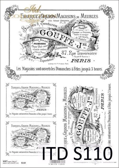 Papier decoupage SOFT ITD S0110
