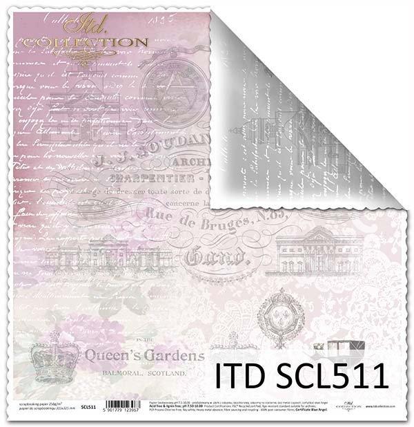 Papier scrapbooking SCL511
