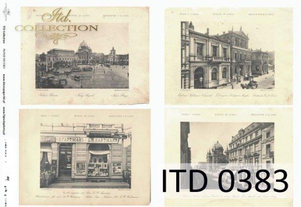 Papier decoupage ITD D0383