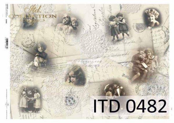 Papier decoupage ITD D0482