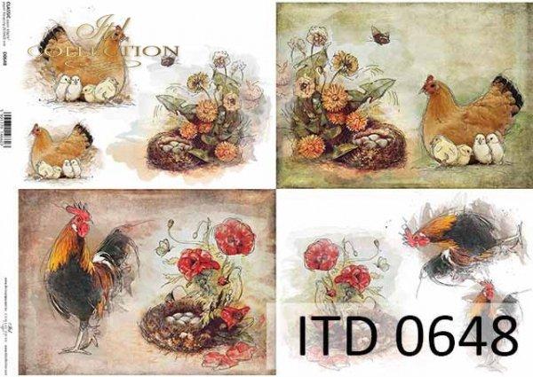 Papier decoupage ITD D0648
