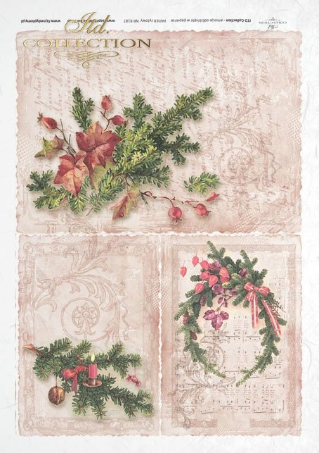ITD Collection, decoupage, scrapbooking, mixed media, Christmas