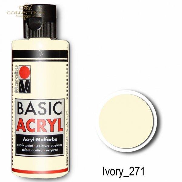 Farba akrylowa Basic Acryl 80 ml Ivory 271