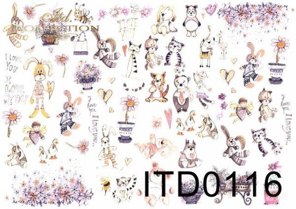 Papier decoupage ITD D0116