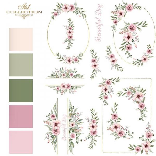akwarele-kwiaty-różowe-listki-malutkie-kompozycje-roślinne-ramki-narożniki-dekory-roślinne-motywy-ślubne-na-skrzyneczki-pudełka-prezentowe-papier-decoupage-ryżowy-R1459