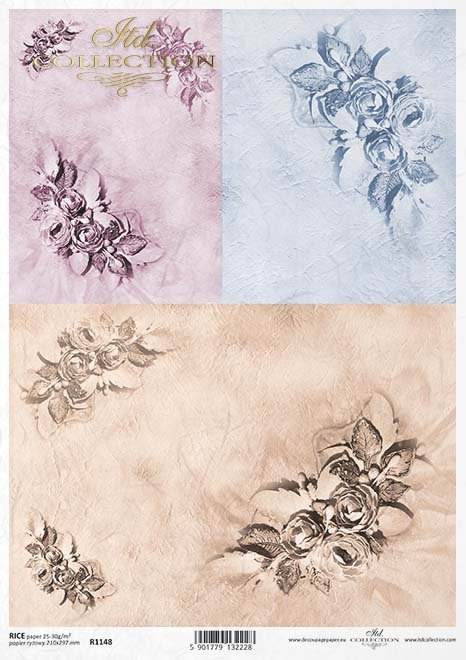 papel decoupage flores*decoupage papírové květiny*Decoupage Papier Blumen