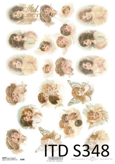 Papier decoupage Aniołki*Paper Decoupage Angels