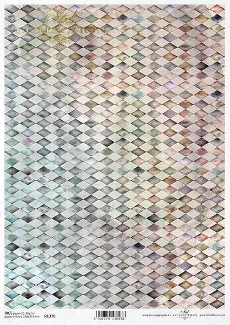 Diamantes de papel de color de arroz, fondo*Reispapier farbige Diamanten, Hintergrund*Рисовые бумажные цветные бриллианты, фон