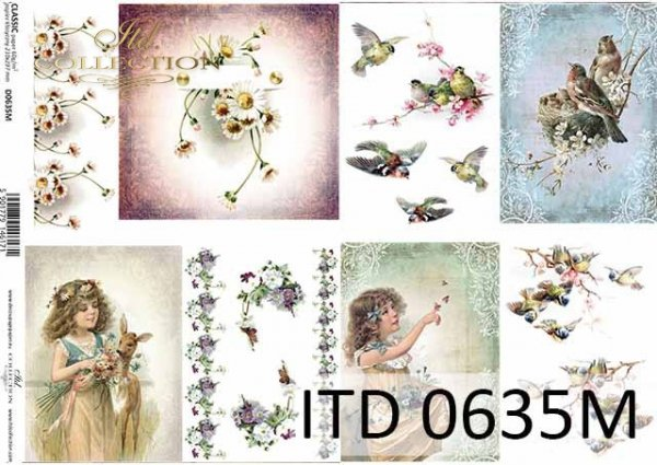 Papier decoupage ITD D0635M