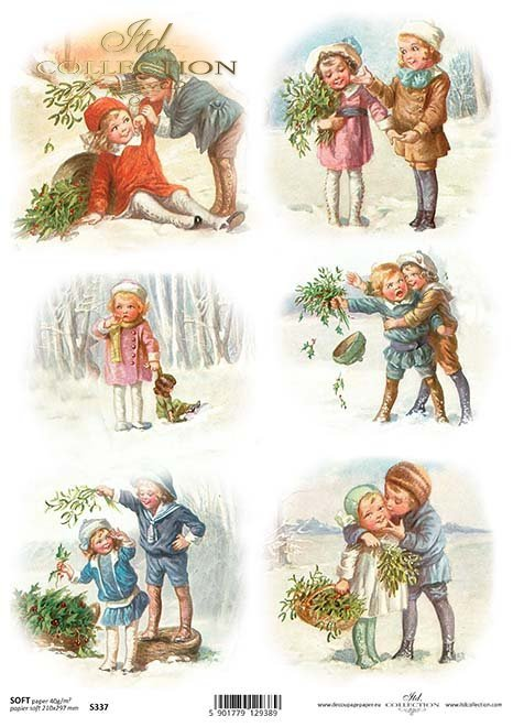 Papier decoupage Weihnachten*Papel decoupage Navidad*Papír decoupage Vánoce