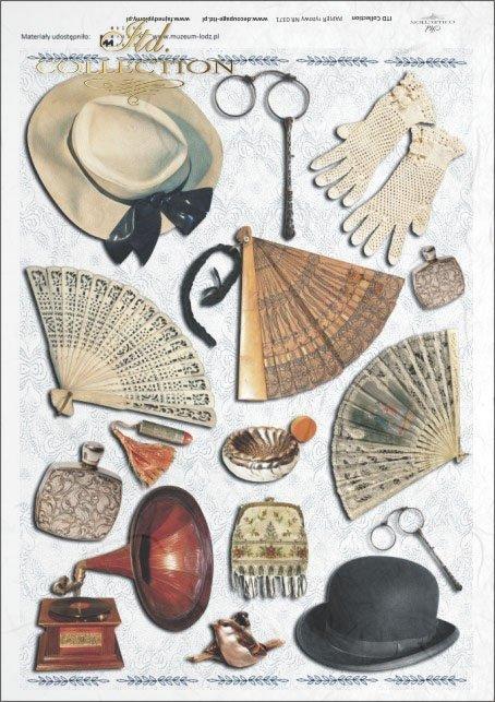 fan, fans, gloves, patefon, hat, hats, binoculars, purse, vintage, retro., R371, Łódź, Lodz, Museum of the City of Łódź, The Museum of Lodz