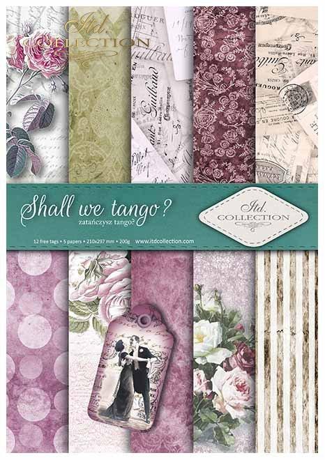 Papiery do scrapbookingu w zestawach - zatańczysz Tango? * Papers for scrapbooking in sets - Shall we Tango?