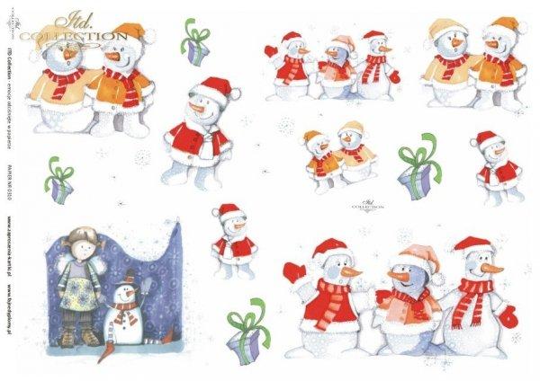 angel, angels, Christmas, winter, snowman, children's, D310, Dorota Marciniak