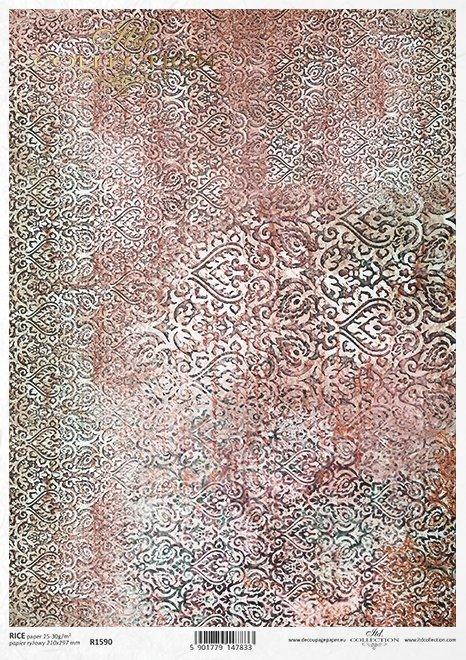 wzor-tapetowo-dywanowy-Mandala-w-pieknych-turkusach-z-rdzawymi-przetarciami-Do-decoupage-Papier-ryzowy-decoupage-R1590-2